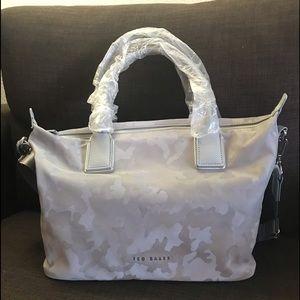 Ted Baker Lanaya Jacquard Tote Bag Silver Camo